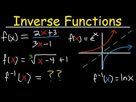 Inverse Functions - Domain & range-  With Fractions, Square Roots, & Graphs