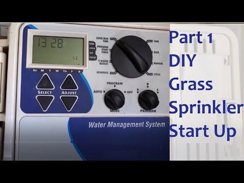 How To Start Your Grass Sprinkler System DIY For Summer Part 1