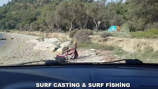 Terios ile çanakkale kereviz dere  balık avı macerası SURF CASTİNG SURF FİSHİNG 22.04.2019