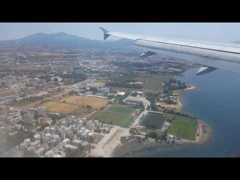 Landing in Thessaloniki (SKG) (passing over city)