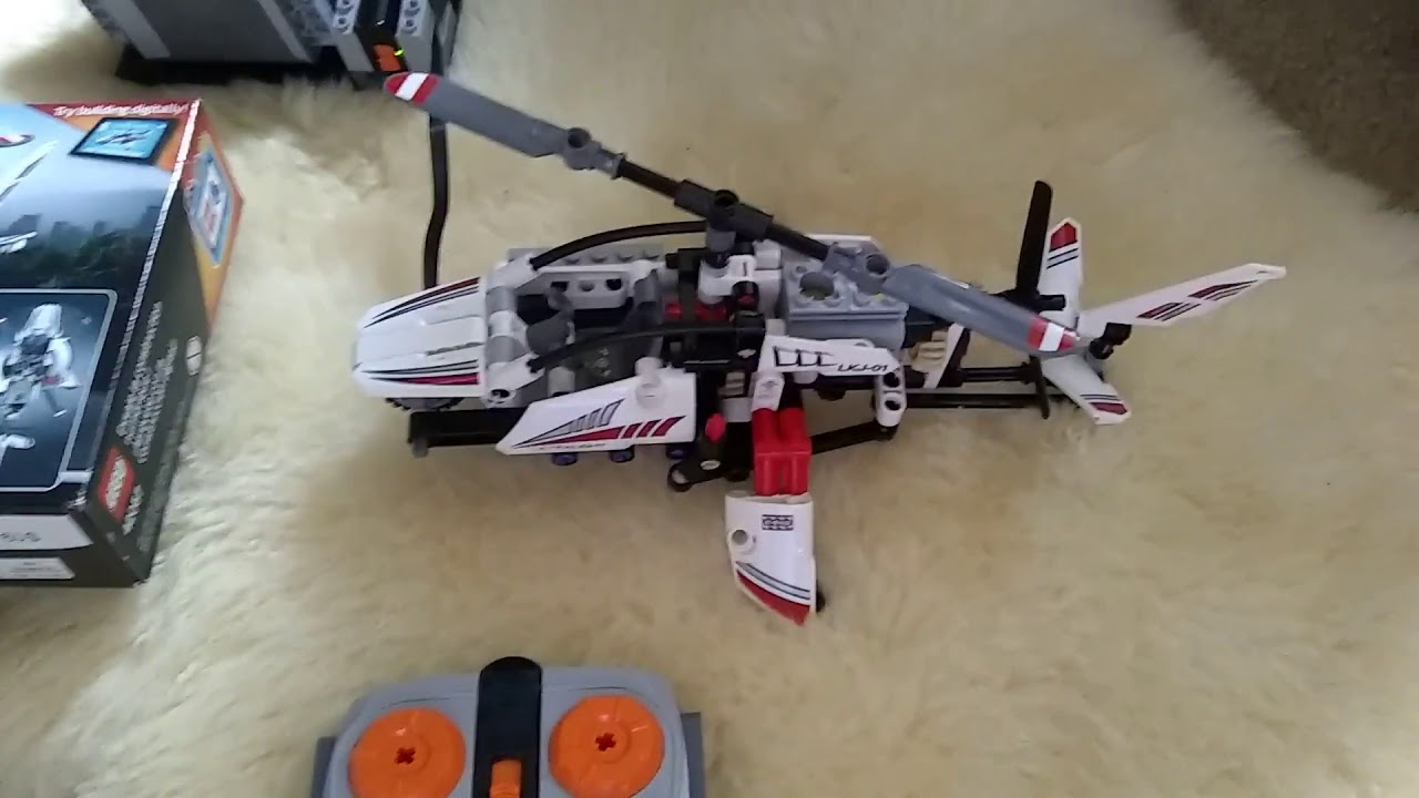 Lego Technic Ultralight Helicopter 42057 With Motor And Remote