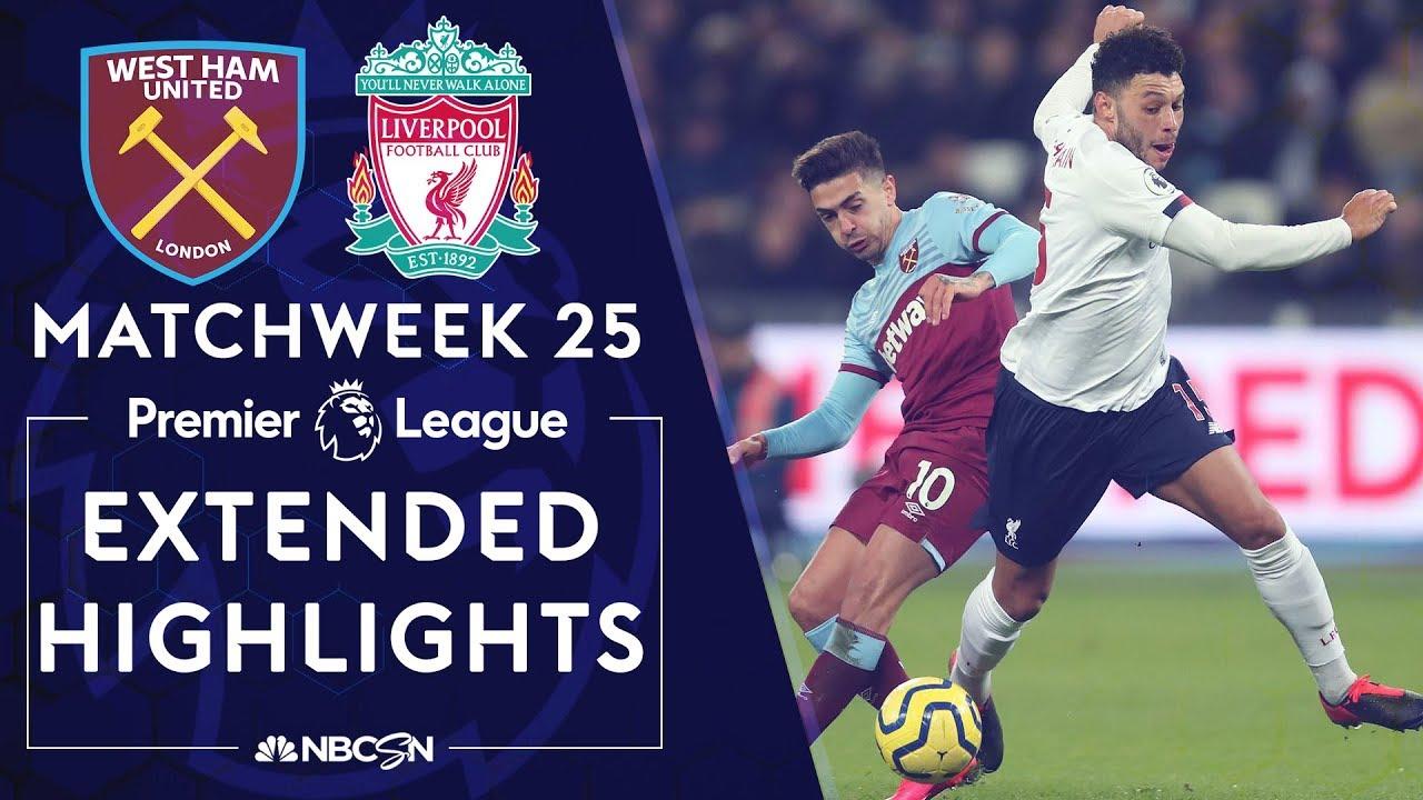 West Ham United v. Liverpool | PREMIER LEAGUE HIGHLIGHTS | 1/29/20 | NBC Sports