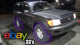 homepage tile video photo for eBay 33's on my Land Cruiser!