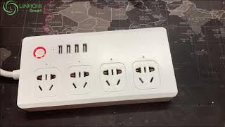 Hướng dẫn kết nối ổ cắm 4 cổng có USB lên app tuya smart hoặc smart life