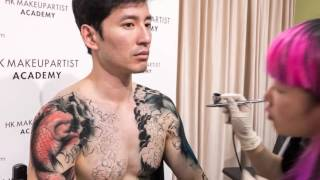 Wabori, Traditional Japanese Tattoo bodypaint by Hong Kong Makeup Artist (Timelapse)