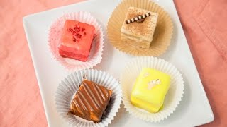 HOW TO MAKE PETIT FOURS (4 FLAVORS!!)