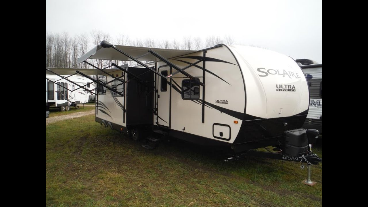 2016 solaire 312tsqbk 2 bedroom luxury travel trailer @ camp-out
