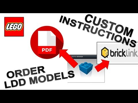 How To Custom Lego Building Instructionspdf And Ordering Ldd Models