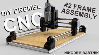 DIY Dremel CNC #2 frame assembly (Arduino, aluminium profiles, 3D printed parts)