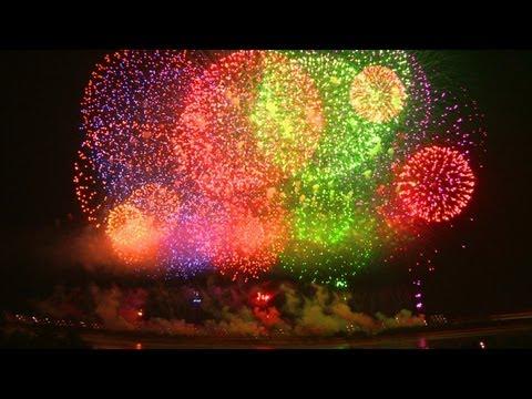 長岡花火大�年2日間の総集編 Fireworks the most beautiful in the japan.
