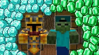 FIND THE SECRET DIAMOND AND EMERALD FROM A THIEF MOD / FIND THE TREASURE CLUES !! Minecraft