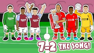 😂7-2: THE SONG!😂 (Aston Villa vs Liverpool 2020 Parody Goals Highlights)
