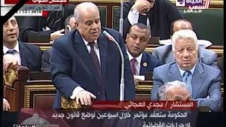 بالفيديو.. رئيس البرلمان يطالب بوضع بوابات إلكترونية أمام الكنائس قبل نهاية العام