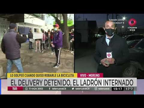 Un delivery golpeó a ladrón y terminó preso en Moreno