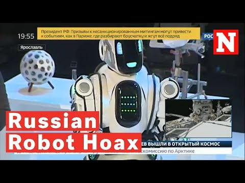 The News Junkie - Russian TV Tries To Pass Fake Robot