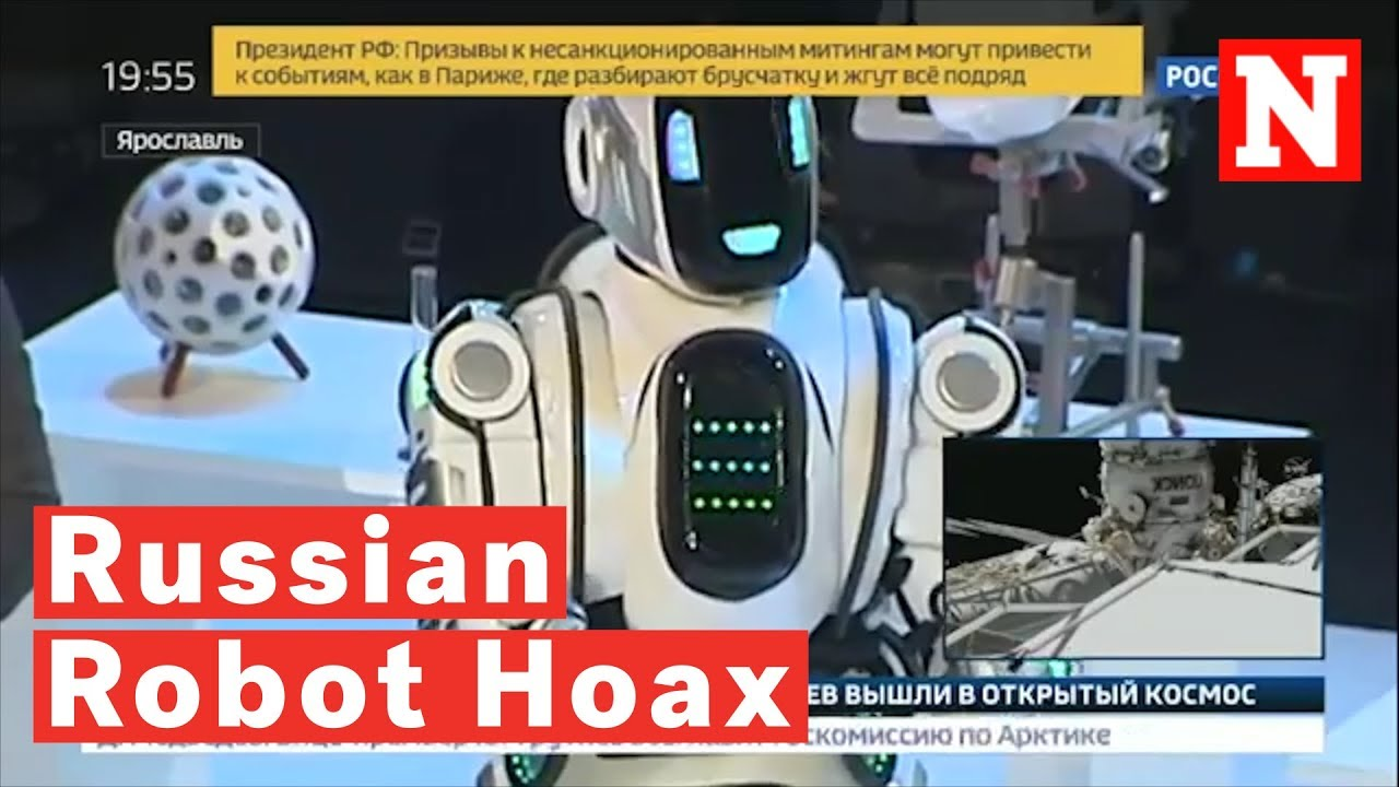 'Hi-Tech' Russian Robot Revealed As Just A Man In A Suit