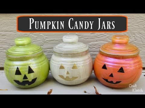 Pumpkin Candy Jars | Dollar Store Craft Ideas | Craft Klatch