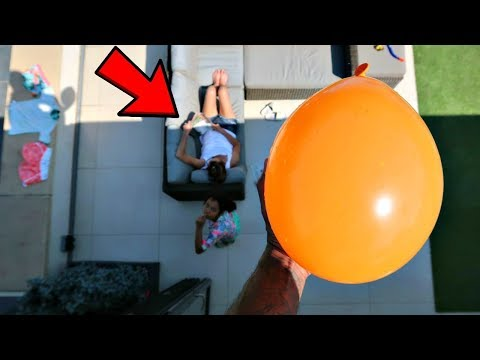 ICE WATER BALLOON PRANK ON MY MOM!!