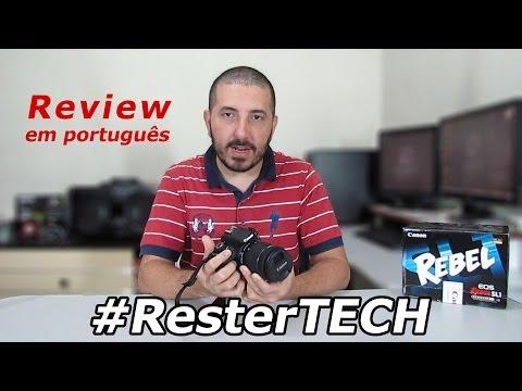 Review Canon EOS Rebel SL1 (100D) #ResterTECH S05E02 (em português)