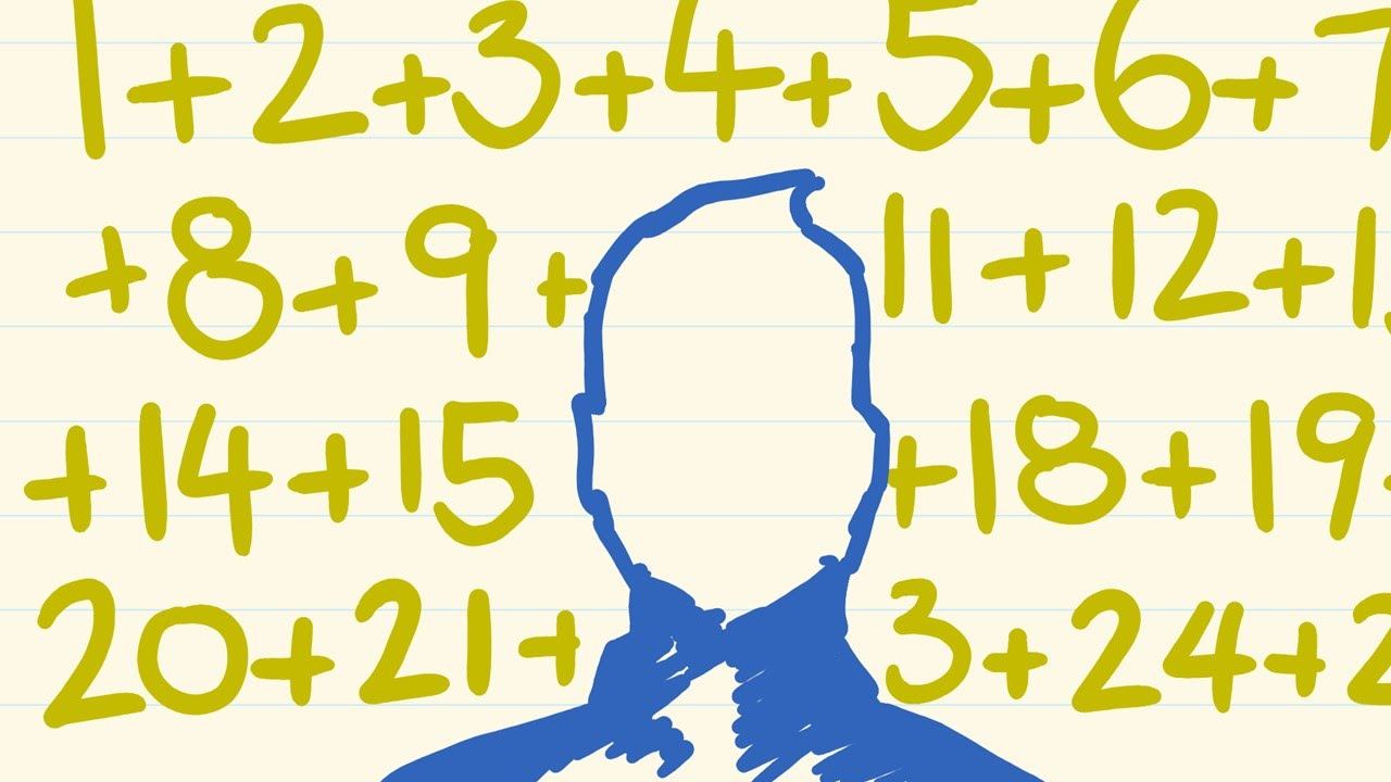 Fast math trick for adding a series of numbers - YouTube