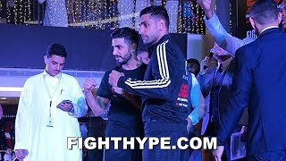 AMIR KHAN VS. BILLY DIB CEREMONIAL WEIGH-IN AND FINAL FACE OFF