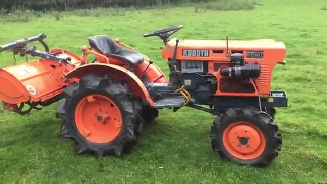 Kubota B7001 4WD Compact Tractor With Rotavator For Sale