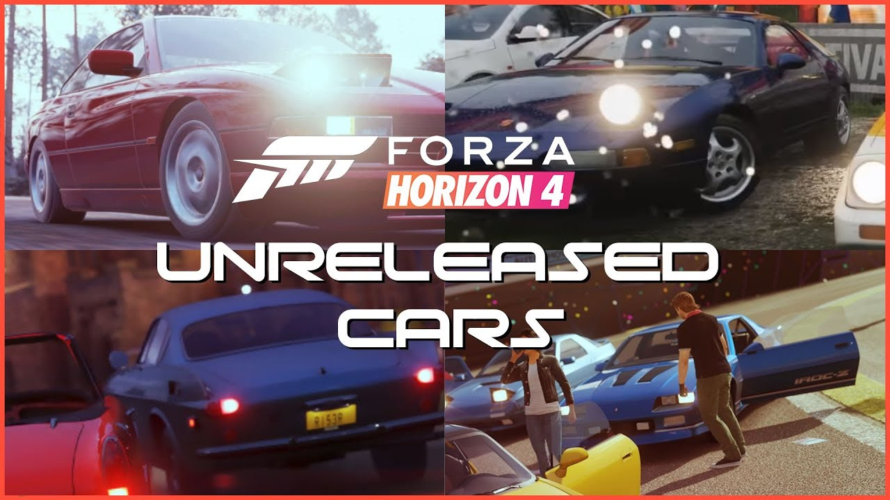 Forza Horizon 4 - All Unreleased Cars