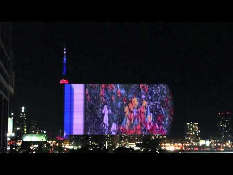 CN Tower light show fun fact: subliminal images