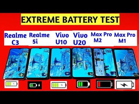 Realme C3 Vs Vivo U10 Vs Realme 5i Vs Vivo U20 Vs Max Pro M1 Vs M2 | Battery Drain Test