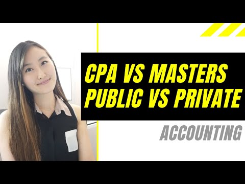 CPA Vs Masters│Public Vs Private Accounting│What CPA Course I Used To Pass All 4 Exams