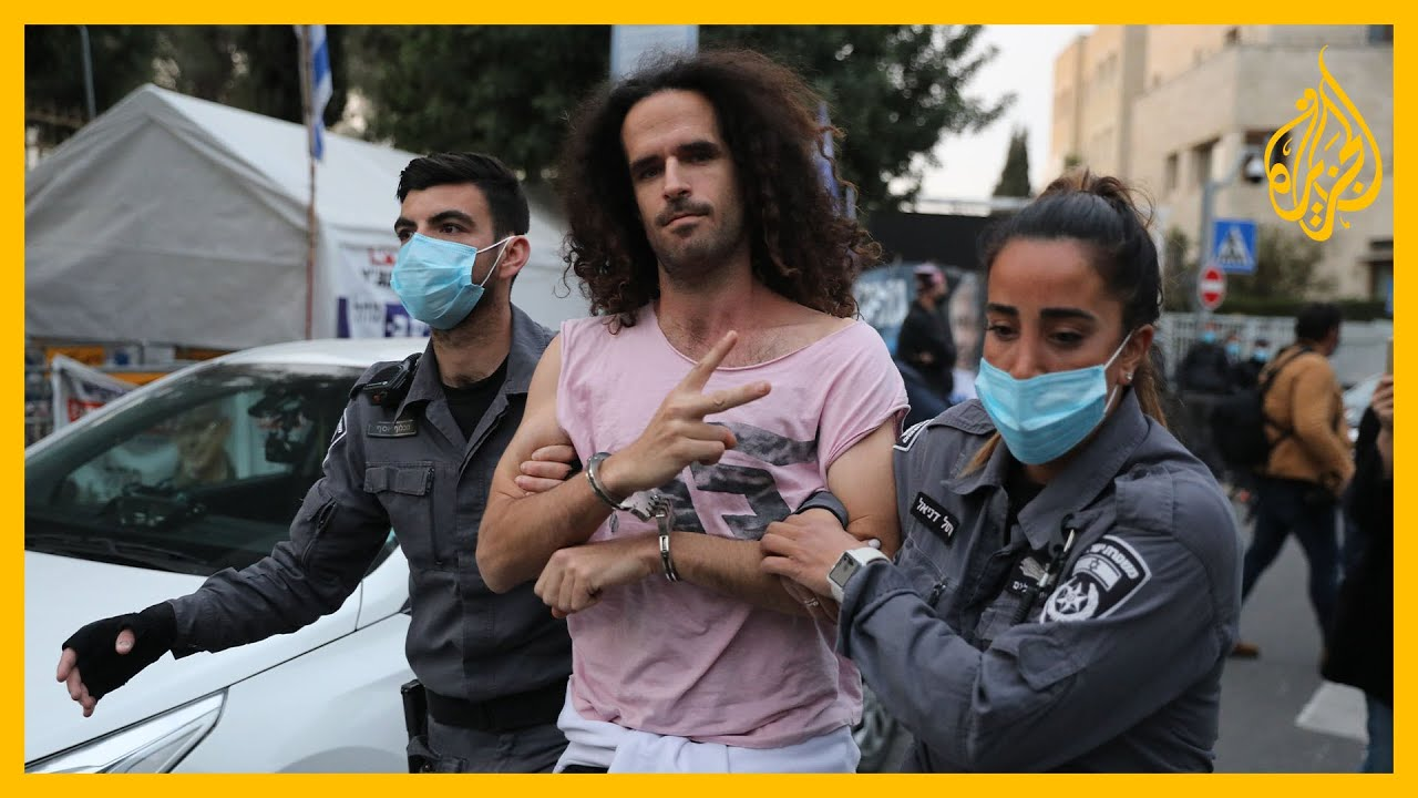 مئات المتظاهرين أمام المحكمة العليا الإسرائيلية يطالبون بمحاكمة نتنياهو  - 13:58-2021 / 1 / 25