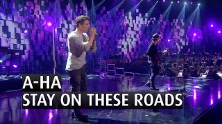 "A-ha performs their song ""Stay on these roads"" at the 2015 Nobel Pe..."