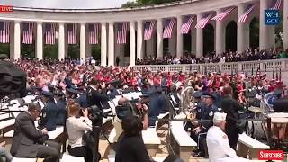 EPIC: President Donald Trump WONDERFUL SPEECH at Arlington National Cemetery Memorial Day 2017