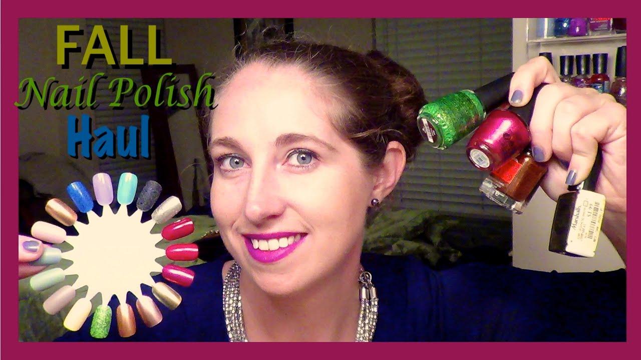 Fall Nail Polish Haul 2015: OPI, Zoya, & Drugstore - YouTube