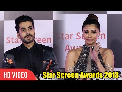 Daisy Shah and Sunny Singh at Star Screen Awards 2018