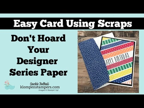 Paper Crafting Projects with Scrap DSP