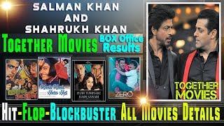 Salman Khan and Shahrukh Khan Together Movies | Salman Khan and Shahrukh Khan Hit and Flop Movies.