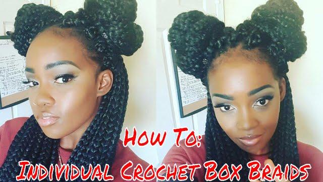HOW TO INDIVIDUAL CROCHET BOX BRAIDS - YouTube