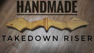 DIY Takedown Bow Riser from scrap wood