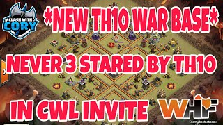 *NEW TH10 WAR BASE* Never 3 Stared by Th10 in CWL Invite! Anti 3 star 2018 2019 Clash of Clans
