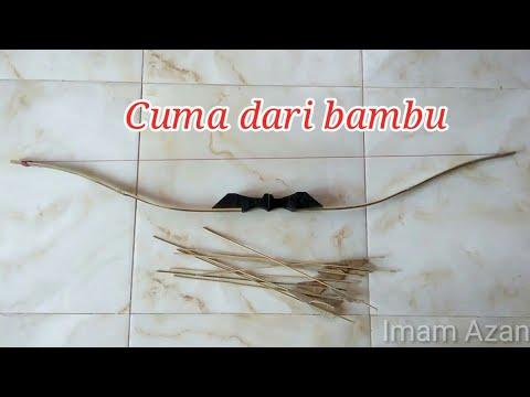 BAMBU!! tutorial buat Busur Panah dari bambu sederhana tanpa memakai mesin
