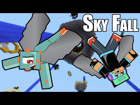 Minecraft / I Can Fly!!...Kinda... / Sky Fall Survival / Gamer Chad Plays