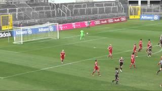 Highlights vom Frauen-Bundesliga Spiel FC Bayern München gegen Bayer 04 Leverkusen (20.10.2013)