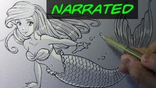 How to Draw a Mermaid [Narrated Step by Step]