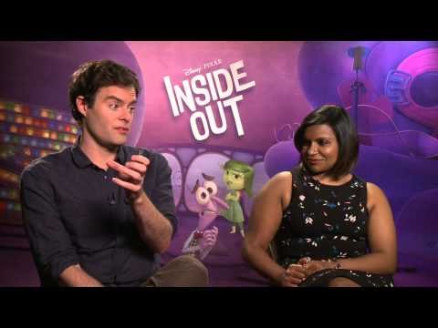 Inside Out Interview - Bill Hader (Fear) & Mindy Kaling (Disgust)