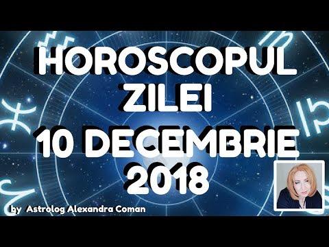 HOROSCOPUL ZILEI ~ 10 DECEMBRIE 2018 ~ by Astrolog Alexandra Coman