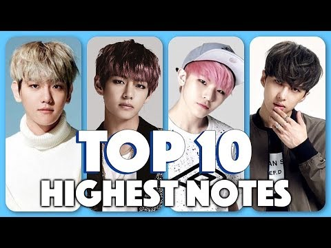 Top 10 Highest Notes By K-Pop Males (남자 아이돌 최고음 TOP10)