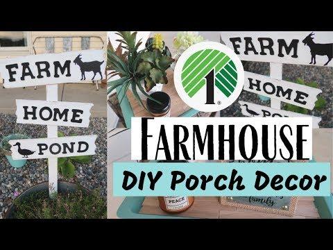 DIY FARMHOUSE DOLLAR TREE PORCH DECOR | DIY PORCH DECOR IDEAS | FARMHOUSE STYLE DIY DECOR |