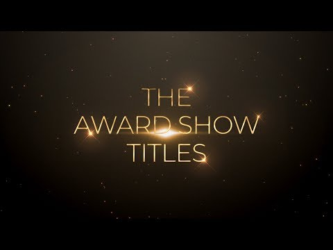 After Effects Tutorial : Award Show Golden Title Animation In After Effects