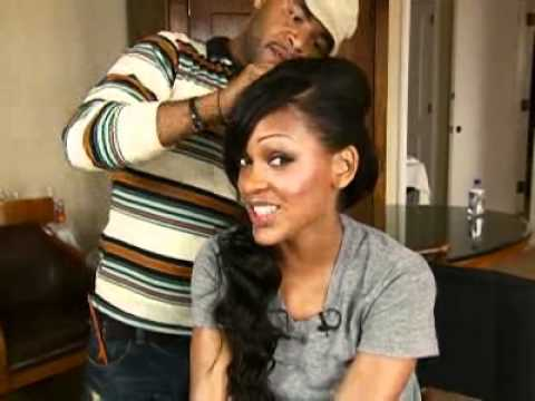 meagan good getting ready for the 2006 bmas youtube
